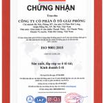 Công ty Cổ phần Ô tô Giải Phóng được cấp chứng nhận ISO 9001:2015